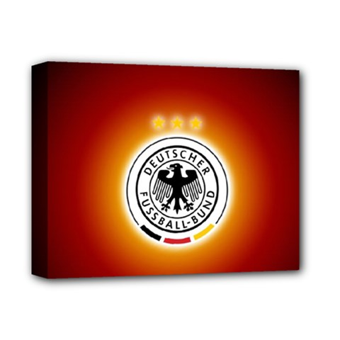 Deutschland Logos Football Not Soccer Germany National Team Nationalmannschaft Deluxe Canvas 14  X 11