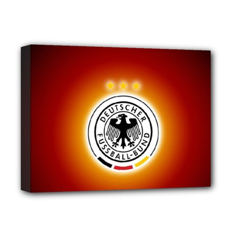 Deutschland Logos Football Not Soccer Germany National Team Nationalmannschaft Deluxe Canvas 16  X 12