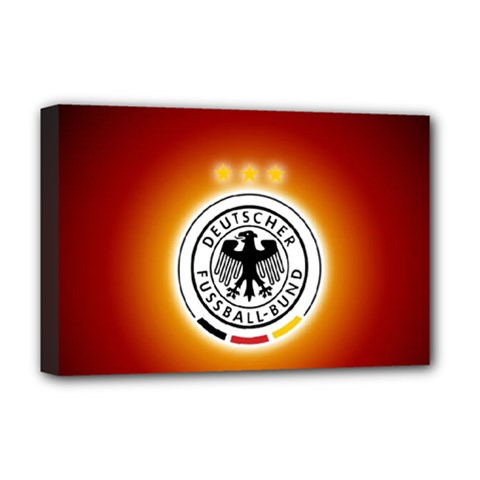 Deutschland Logos Football Not Soccer Germany National Team Nationalmannschaft Deluxe Canvas 18  X 12