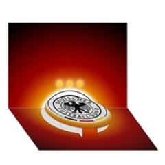 Deutschland Logos Football Not Soccer Germany National Team Nationalmannschaft Circle Bottom 3d Greeting Card (7x5)