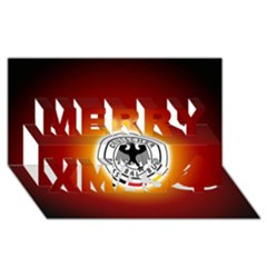 Deutschland Logos Football Not Soccer Germany National Team Nationalmannschaft Merry Xmas 3d Greeting Card (8x4)
