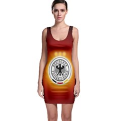 Deutschland Logos Football Not Soccer Germany National Team Nationalmannschaft Sleeveless Bodycon Dress