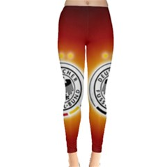 Deutschland Logos Football Not Soccer Germany National Team Nationalmannschaft Leggings