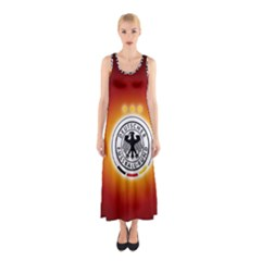 Deutschland Logos Football Not Soccer Germany National Team Nationalmannschaft Sleeveless Maxi Dress