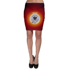 Deutschland Logos Football Not Soccer Germany National Team Nationalmannschaft Bodycon Skirt