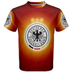 Deutschland Logos Football Not Soccer Germany National Team Nationalmannschaft Men s Cotton Tee