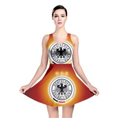 Deutschland Logos Football Not Soccer Germany National Team Nationalmannschaft Reversible Skater Dress