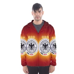 Deutschland Logos Football Not Soccer Germany National Team Nationalmannschaft Hooded Wind Breaker (men)