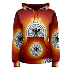 Deutschland Logos Football Not Soccer Germany National Team Nationalmannschaft Women s Pullover Hoodie