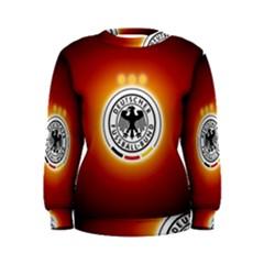 Deutschland Logos Football Not Soccer Germany National Team Nationalmannschaft Women s Sweatshirt