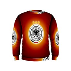 Deutschland Logos Football Not Soccer Germany National Team Nationalmannschaft Kids  Sweatshirt