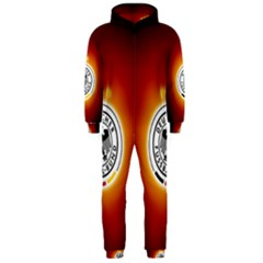 Deutschland Logos Football Not Soccer Germany National Team Nationalmannschaft Hooded Jumpsuit (men)