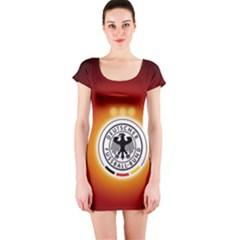 Deutschland Logos Football Not Soccer Germany National Team Nationalmannschaft Short Sleeve Bodycon Dress