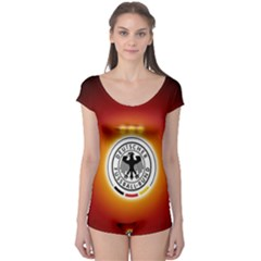 Deutschland Logos Football Not Soccer Germany National Team Nationalmannschaft Boyleg Leotard