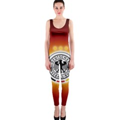 Deutschland Logos Football Not Soccer Germany National Team Nationalmannschaft Onepiece Catsuit