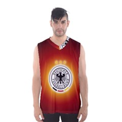 Deutschland Logos Football Not Soccer Germany National Team Nationalmannschaft Men s Basketball Tank Top