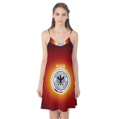Deutschland Logos Football Not Soccer Germany National Team Nationalmannschaft Camis Nightgown