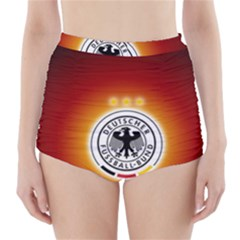 Deutschland Logos Football Not Soccer Germany National Team Nationalmannschaft High Waisted Bikini Bottoms