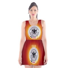 Deutschland Logos Football Not Soccer Germany National Team Nationalmannschaft Scoop Neck Skater Dress