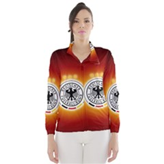 Deutschland Logos Football Not Soccer Germany National Team Nationalmannschaft Wind Breaker (women)