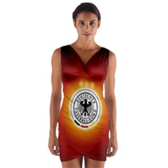 Deutschland Logos Football Not Soccer Germany National Team Nationalmannschaft Wrap Front Bodycon Dress