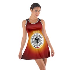 Deutschland Logos Football Not Soccer Germany National Team Nationalmannschaft Cotton Racerback Dress