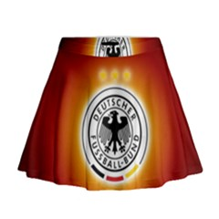 Deutschland Logos Football Not Soccer Germany National Team Nationalmannschaft Mini Flare Skirt