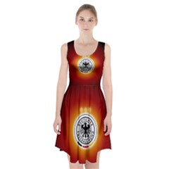 Deutschland Logos Football Not Soccer Germany National Team Nationalmannschaft Racerback Midi Dress