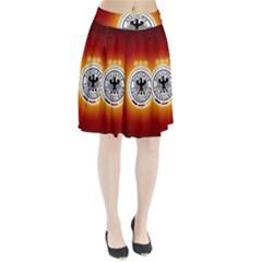 Deutschland Logos Football Not Soccer Germany National Team Nationalmannschaft Pleated Skirt
