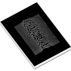 Grayscale Joy Division Graph Unknown Pleasures Large Memo Pads