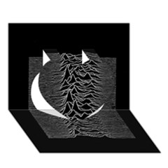 Grayscale Joy Division Graph Unknown Pleasures Heart 3D Greeting Card (7x5)