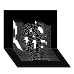 Grayscale Joy Division Graph Unknown Pleasures Love 3d Greeting Card (7x5)