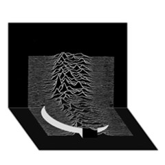 Grayscale Joy Division Graph Unknown Pleasures Circle Bottom 3D Greeting Card (7x5)
