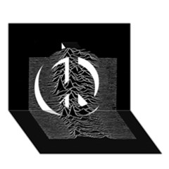 Grayscale Joy Division Graph Unknown Pleasures Peace Sign 3d Greeting Card (7x5)