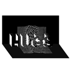Grayscale Joy Division Graph Unknown Pleasures Hugs 3d Greeting Card (8x4)