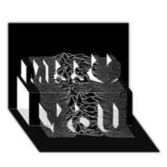 Grayscale Joy Division Graph Unknown Pleasures Miss You 3d Greeting Card (7x5)