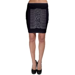 Grayscale Joy Division Graph Unknown Pleasures Bodycon Skirt