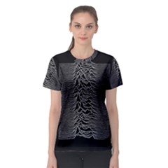 Grayscale Joy Division Graph Unknown Pleasures Women s Sport Mesh Tee
