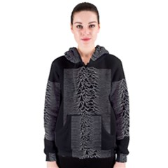 Grayscale Joy Division Graph Unknown Pleasures Women s Zipper Hoodie