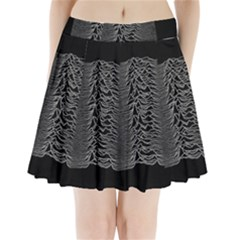 Grayscale Joy Division Graph Unknown Pleasures Pleated Mini Skirt