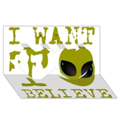 I Want To Believe Twin Hearts 3d Greeting Card (8x4)