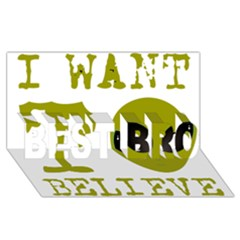 I Want To Believe BEST BRO 3D Greeting Card (8x4)