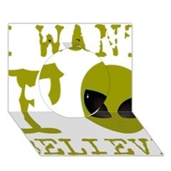 I Want To Believe Circle 3d Greeting Card (7x5)
