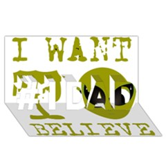 I Want To Believe #1 Dad 3d Greeting Card (8x4)