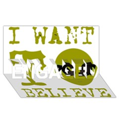 I Want To Believe Engaged 3d Greeting Card (8x4)