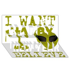 I Want To Believe Happy New Year 3d Greeting Card (8x4)
