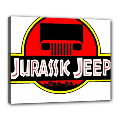 Jurassic Jeep Park Canvas 20  X 16