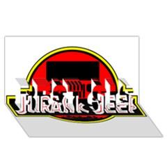 Jurassic Jeep Park Best Sis 3d Greeting Card (8x4)