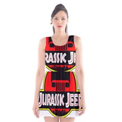 Jurassic Jeep Park Scoop Neck Skater Dress