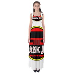 Jurassic Jeep Park Empire Waist Maxi Dress